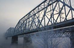 bridżowa kolejowa rzeka Zdjęcie Stock