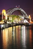 bridżowa schronienie noc Sydney Fotografia Stock