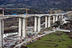 bridżowej budowy autostrada obrazy royalty free