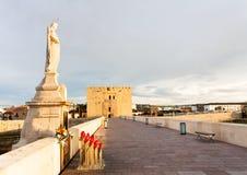 bridżowej Calahorra cordoby rzymski Spain wierza Obrazy Royalty Free