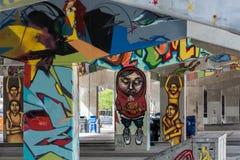 Bridżowi sztuka graffiti Zdjęcie Royalty Free