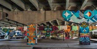 Bridżowi sztuka graffiti Obrazy Stock