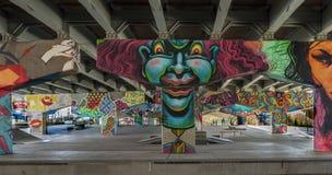 Bridżowi sztuka graffiti Zdjęcia Stock