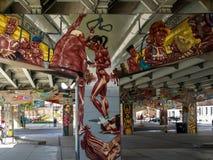 Bridżowi sztuka graffiti Obraz Stock
