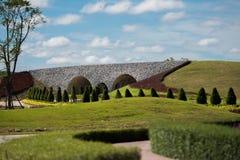 Bridżowi zieleni pola Obraz Stock