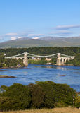 bridżowy Bangor menai Wales Zdjęcia Stock
