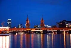bridżowy Berlin oberbaumbruecke Fotografia Royalty Free