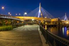 bridżowy bostonu zakim Zdjęcie Royalty Free
