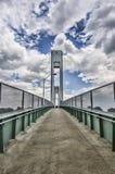 bridżowy chmurnego nieba prawdziwy widok Zdjęcie Royalty Free