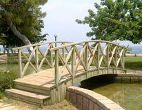 bridżowy drewniany Zdjęcia Stock