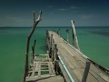 Bridżowy drewno Zdjęcia Stock