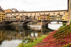 bridżowy Florence ponte vecchio Zdjęcie Stock