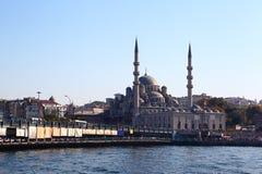 bridżowy galata Istanbul meczetu yeni Zdjęcie Royalty Free
