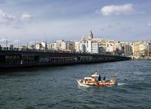 bridżowy galata Istanbul wierza Fotografia Stock