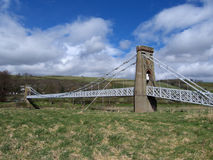 bridżowy gattonside melrose Scotland zawieszenie Fotografia Stock
