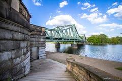 Bridżowy Glienicke w Berlin Fotografia Stock