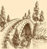 Bridżowy grafika krajobraz Zdjęcie Royalty Free