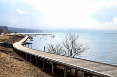 bridżowy jeziorny drewno fotografia royalty free