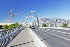 bridżowy lazarevsky St Petersburg Zdjęcie Stock
