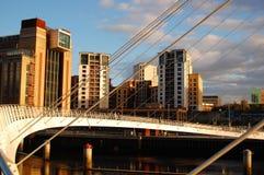 bridżowy milenium Newcastle Obrazy Stock