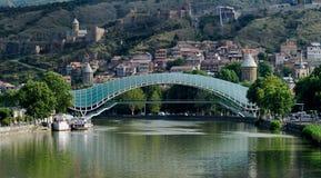 bridżowy nowy stary Tbilisi Fotografia Royalty Free