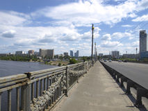 Bridżowy Patona kiev Ukraina Obraz Stock