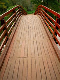bridżowy perspektywiczny drewniany Zdjęcia Royalty Free