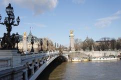 Bridżowy pont Alexandre III Zdjęcie Royalty Free