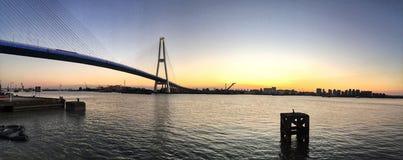 Bridżowy Shanghai wczesny poranek zdjęcie royalty free