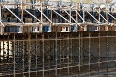 Bridżowy w budowie Fotografia Stock