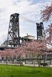 bridżowy wiosna stali czas Fotografia Stock