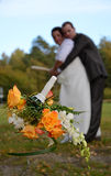 bridal бросая венок Стоковая Фотография RF