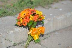 Bridal букет различных цветков Стоковая Фотография