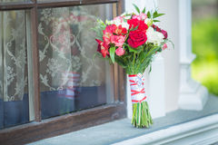 Bridal букет различных цветков Стоковые Фото