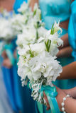 Bridal букет цветков и невест венчания Стоковое Изображение