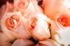 Bridal букет cream роз Стоковое Изображение RF