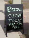 Bridal выставка сегодня подписывает Стоковые Фото