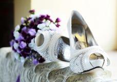 Bridal деталь ботинка Стоковые Фотографии RF