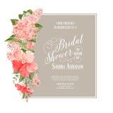 Bridal карточка ливня Стоковое Фото