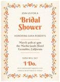 Bridal карточка приглашения ливня Стоковая Фотография