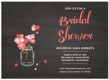 Bridal карточка приглашения ливня Стоковые Фотографии RF