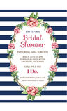 Bridal карточка приглашения Стоковое Фото