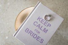 Bridal кольцо на черноте & шахмат хрома металлическом Стоковое Изображение RF