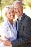bridal пар старший портрета outdoors Стоковые Изображения RF