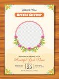 Bridal приглашение ливня с симпатичным дизайном иллюстрация штока
