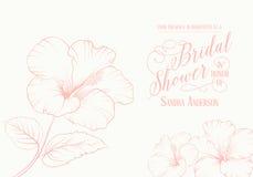 Bridal приглашение ливня Стоковые Фото