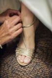 bridal розовые ботинки Стоковое Изображение RF