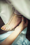 bridal розовые ботинки Стоковая Фотография RF