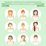 Bridal стиль причёсок Стоковое Фото