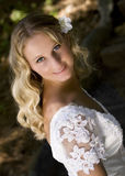 Bridal. Young pretty blond bridal portraits royalty free stock images